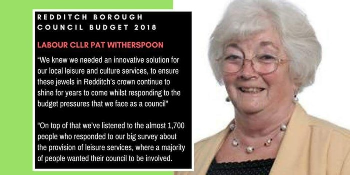 Redditch Labour Councillor Pat Witherspoon